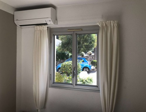 Aircondition i stue og soveværelse